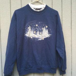 Blue winter pullover